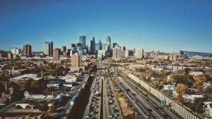 The view of Minneapolis
