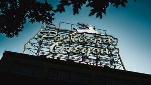 Portland, Oregon billboard sign.