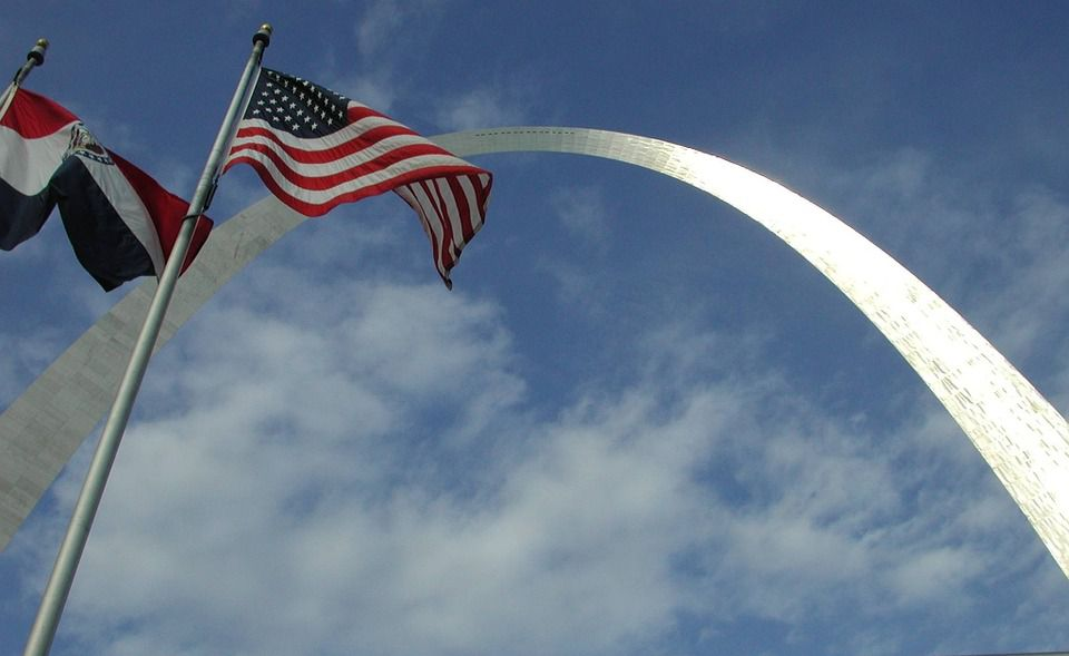 The Gateway Arch in Missouri.