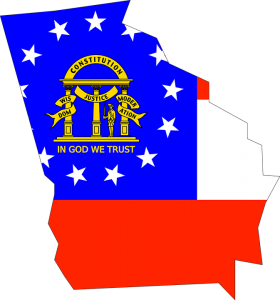 State and flag of Georgia.