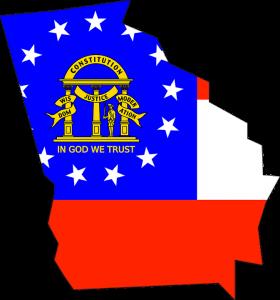 State and flag of Georgia.