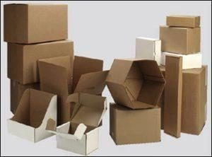 Cardboard boxes of all sizes and shapes.