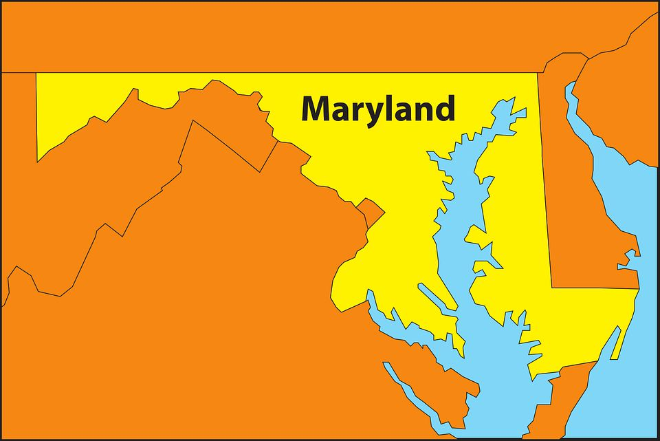 Map of Maryland.