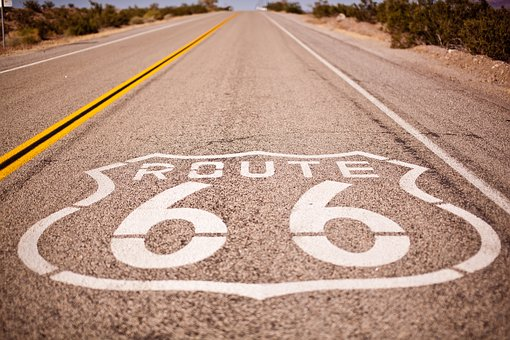 Driving Route 66 Through Arizona with interstate movers