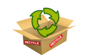 Recyclable cardboard boxes for moving.
