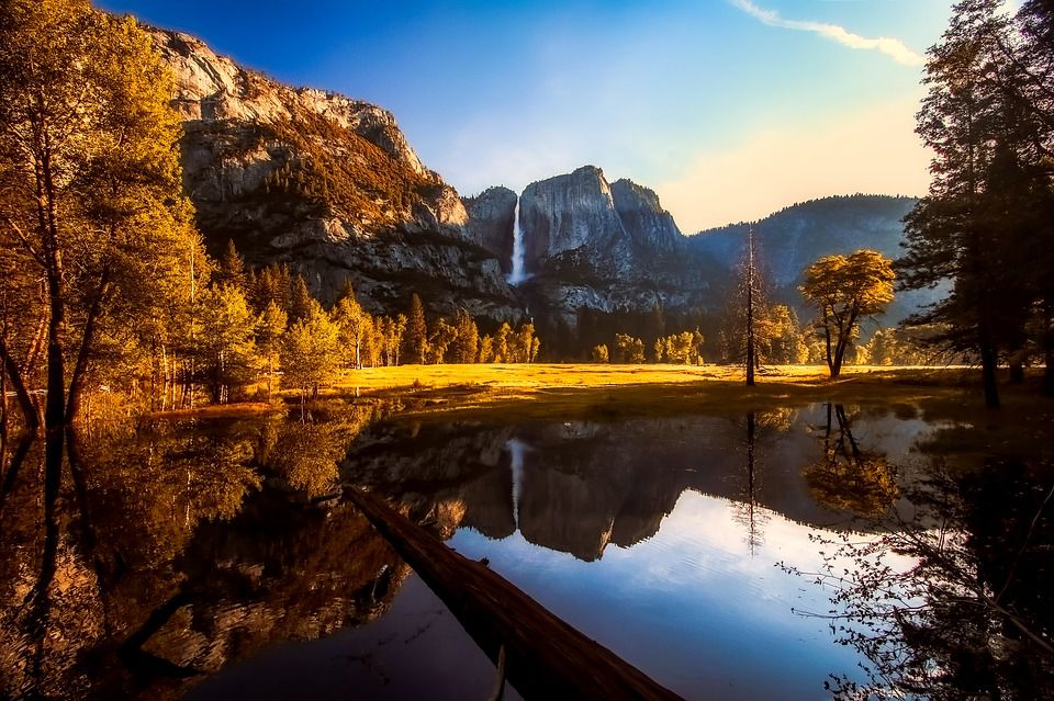 Yosemite National Park landscape - enjoy the nature of California.