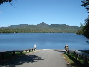 Lake in Vermont - long distance moving companies can arrange for travel across ground, water and air.