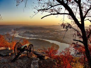 View from a hilltop in Tennessee.