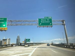 Road in Mobile, Alabama