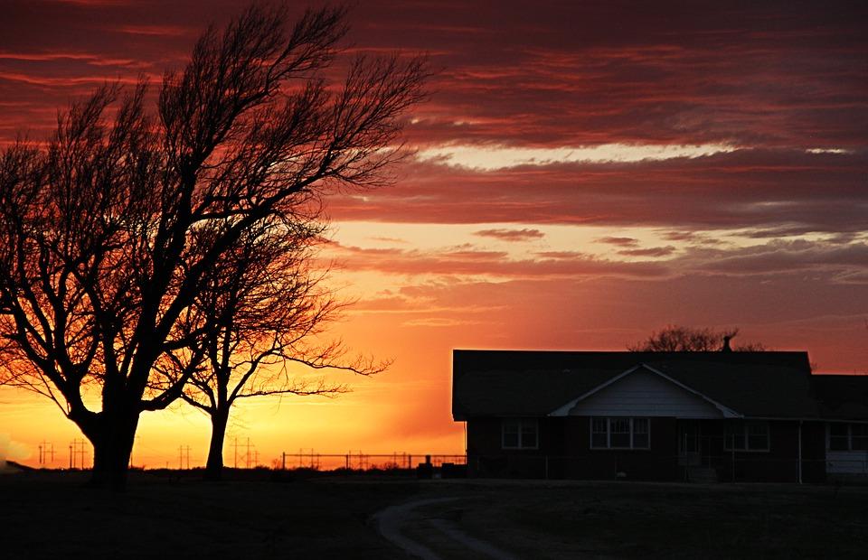 Farm house in Oklahoma.