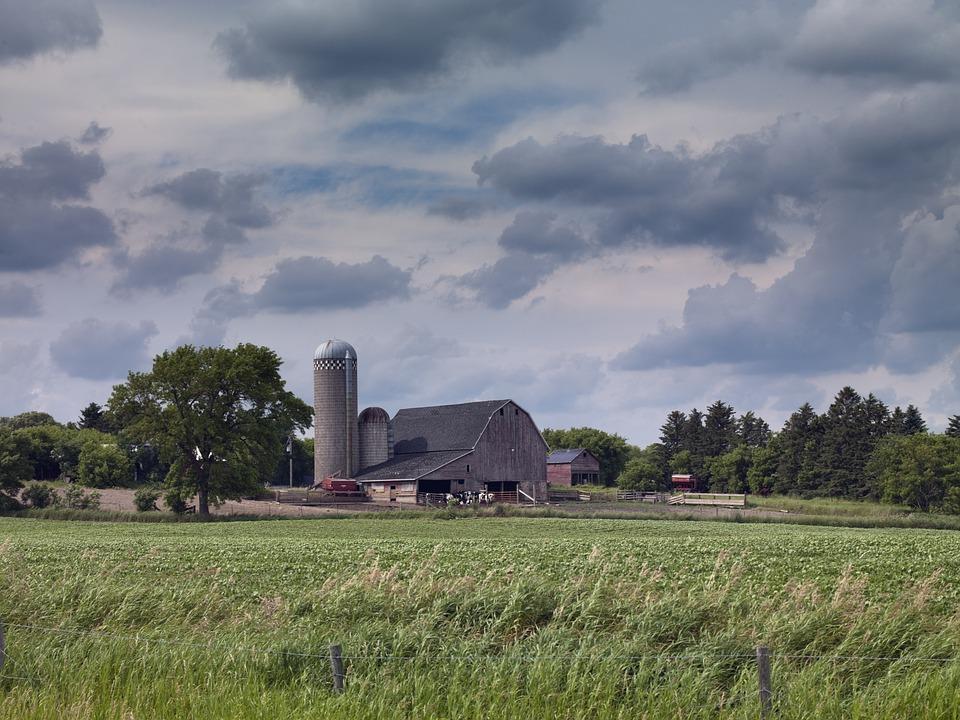 Rural farmlands in North Dakota