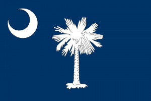 Flag of South Carolina, the Palmetto State.