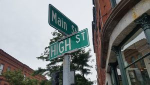 Street sign in Vermont.