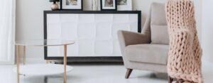 A decluttered living room