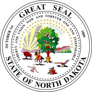 Seal of North Dakota.