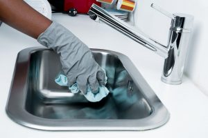 Cleaning the sink is just one part of possible cleaning strategies for a new home