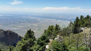 The view of Albuquerque from the Sandia Mountains.