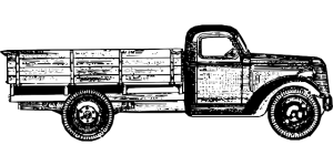 Sketch of an old-timer truck