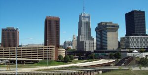 Panorama of Akron, the ideal view after long distance moving companies Akron are done with your relocation.