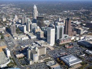 Charlotte skyline - a phone call to one of the long distance moving companies Charlotte we recommend is all it takes to get here.