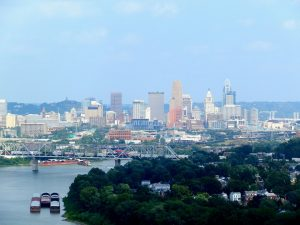 Cincinnati skyline - your to enjoy with some aid from Long distance moving companies Cincinnati