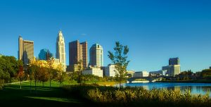The perfect view of the riverside in Columbus, one that long distance moving companies Columbus OH can help you enjoy.