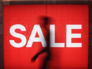 Sale sign is something that you could see when moving in off peak season