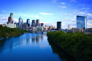 River view of Philadelphia.