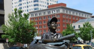 The Daily News statue in Tulsa, OK.