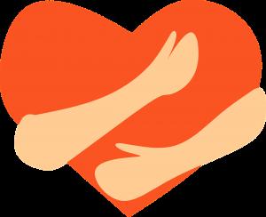 A heart,.