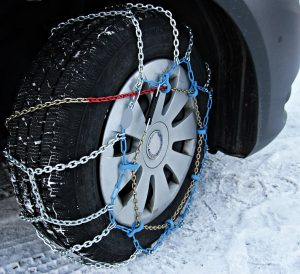 You should get winter tires and snow chains during the winter, to protect yourself and people around you.