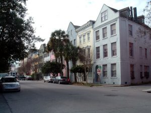 Rainbow Row in Charleston, SC.