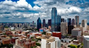 Panorama of downtown Dallas.