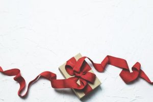 A wrapped present