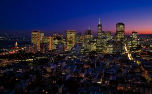 San Francisco at night!