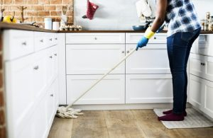 Household spring cleaning is a good family activity