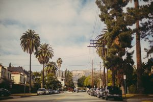 A street in Los Angeles.