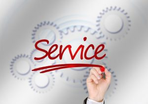 Service in writing