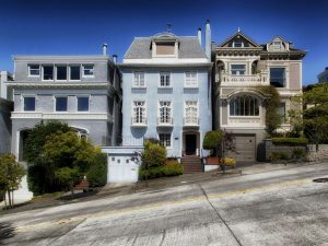 A row of San Francisco-style houses.