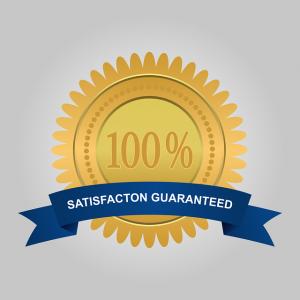 100% satisfaction guarantee label