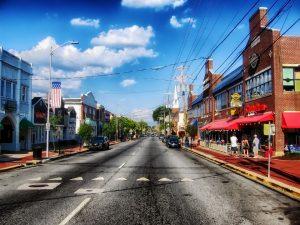 A street in Newark.