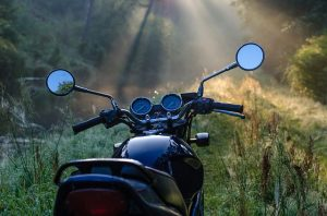 prepare your motorcycle for storage - bike in the nature
