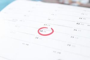 book your movers in advance and write it down in your calendar!