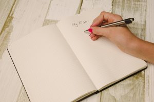 A hand writing a plan on notebook