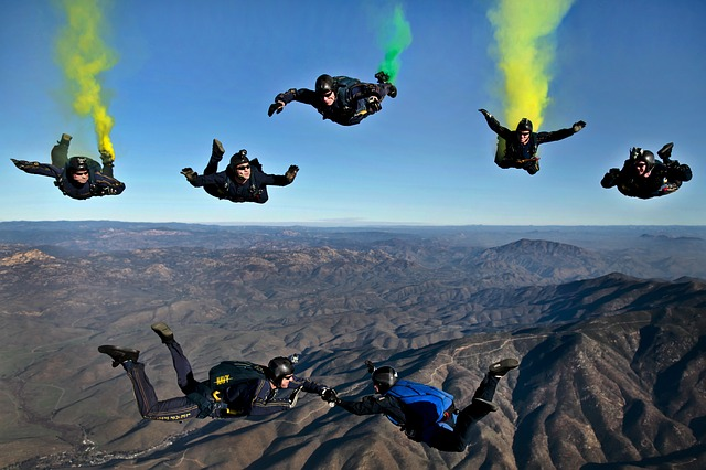 PEople going on skydiving aftr moving from florida to california