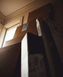 Moving boxes offered by long distance moving companies Clarksville.