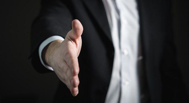 Man preparing for a handshake