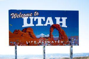 Welcome to Utah billboard.