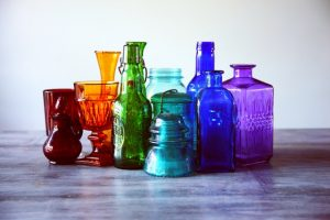 Glass Bottles in Rainbow Colors