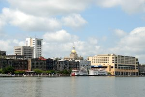 Cityscape of Savannah, Georgia